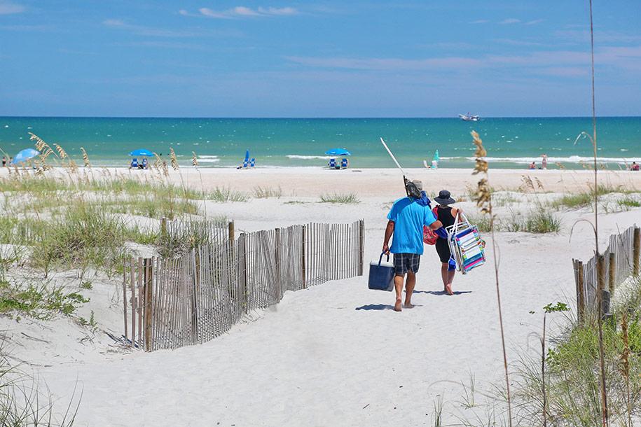 Couple Walking on St Augustine Beach